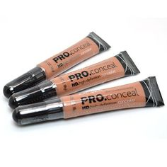 LA Girl Pro Concealer 3 x GC979 Almond HD High Definition Liquid Pro Conceal  FREE EARRING >>> To view further for this item, visit the image link.