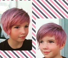 This is an A-line bob haircut and your girl will rock the look too. Little Girls Pixie Haircuts, Cool Haircuts For Girls, Little Girl Hairstyles, Mom Hairstyles, Little Girls Pixie Cut, Kids Short Haircuts, Kids Bob Haircut, Asymmetrical Bob Haircuts, Bobs For Thin Hair