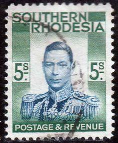 Southern Rhodesia 1937 George VI Head SG 52 Fine Used