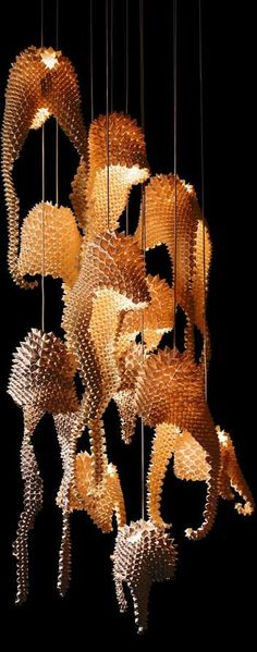 Luisa de los Santos Robinson's Dragon's Tail Lamp is Magically Luminous trendhunter.com | #spreadthelight