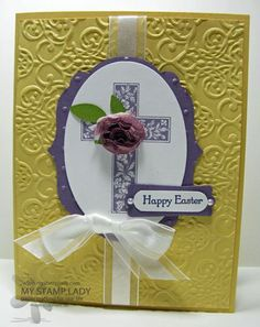 Stampin' Up! Easter  by Christine M at My Stamp Lady: Happy Easter Crosses Of Hope