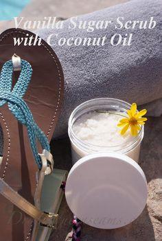 Vanilla Sugar Scrub with Coconut oil