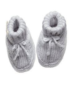 $10- Knit Slipper Socks- Product Detail | H&M US