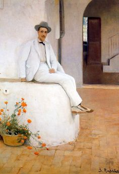 Category:Paintings by Santiago Rusiñol Sitges, Spanish Painters, Spanish Artists, Picasso, Modernisme, Different Art Styles, Amazing Paintings, Garden Painting, Modern Artists