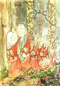 R. Busch-Schumann Forest Fairy, Fairy Land, Fairy Tales, Vintage Christmas Cards, Vintage Cards, Elves And Fairies, Nature Spirits, Vintage Fairies, Witch Art