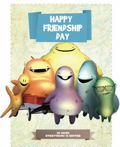 Happy Friendship Day, Funny, Movie Posters, Cards, Friendship Cards, 3d Cards, Pin Up Cartoons, Hilarious, Amigos