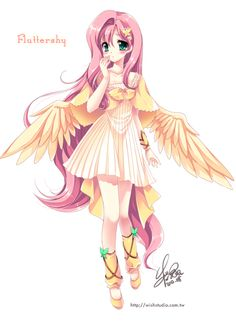 Fluttershy of moe anthropomorphism by ~SakuranoRuu on deviantART