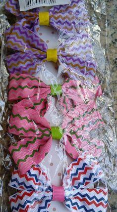 kit presilhas cabelo em laços 05 pares
