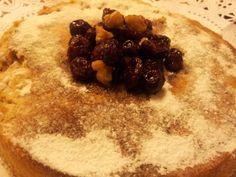 Pastel de boniato con arandanos