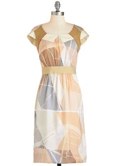 Chic Concept Dress. Both in theory and in wear, this satiny sheath dress is hands-down vogue. #multi #modcloth