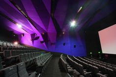 Braodway Cinema / Era Architects / Bhandup - My Work - Theater Cinema Theatre, Cinema Room, Movie Theater, Hall Design, Screen Design, Auditorium Design, Acoustic Panels, Home Cinemas, Concert Hall