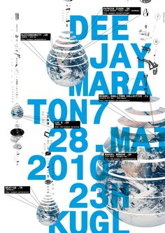 #design, 2010, #typography, disco globe. I esp. love the schematic of the disco globe on the left matthias gubler Typo Poster, Poster Layout, Music Illustration, Graphic Illustration, Graphic Design Print, Graphic Prints, Poster Design Inspiration, Blue Design, Info Graphics