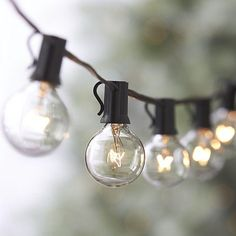 Crate & Barrel  Globe String Lights