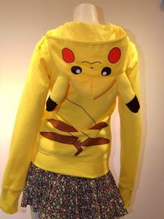 Hey, I found this really awesome Etsy listing at http://www.etsy.com/listing/174196914/pikachu-hoodie-pikachu-costume-slim