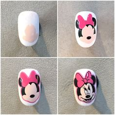 Swirl Nail Art, Rose Nail Art, Rose Nails, Disney Acrylic Nails, Best Acrylic Nails, Nail Art Designs Videos, Fall Nail Art Designs, Mickey Nails, Nail Art For Kids