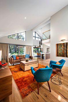 blue orange >> The Quedjinup Interiors by Jodie Cooper Design (5)
