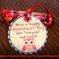 Valentine Gift Tags and Homework Passes