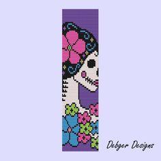 Sugar skull Goddess 2 - Loom Bracelet Cuff Pattern (SAVING buy 2 - 3rd free ). $6.50, via Etsy.