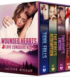 """""""Wounded Hearts Box Set"""" (Books 1-4) by Jaquie Biggars  •••••••••••••••••••••••••••••  """"Tidal Falls (Wounded Hearts 1)"""" by Jaquie Biggar    I read this novel when it was first released (Sept 2014) and just finished re-reading it. I remember truly enjoying it the first time. That didn't change; I truly enjoyed it this time; maybe more so.   I always loved the two main characters, Sara and Nick. And of course, the other two, Sara's daughter Jessica and Nick's dog, Jake. The camaraderie of the…"""