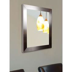 American Made Rayne Stainless Silver Wall Mirror