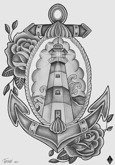 Lighthouse Tattoo Design by ThereseDrawings