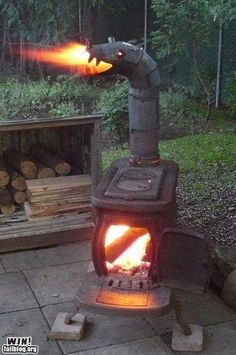 so fun! fun way to have an outdoor fire and easy to cook on top of.. .if only I had one lying around.
