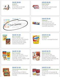 Free Grocery Coupons: ALMAY, PILLSBURY, BIG G CEREALS http://freeprintableshoppingcoupons.com