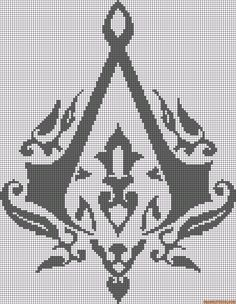 Alpha friendship bracelet pattern added by tsinelas. assassin s creed english symbol video game ubisoft. Minecraft Pixel Art, Minecraft Creations, Minecraft Ideas, Cross Stitch Designs, Cross Stitch Patterns, Pixel Art Grid, Pixel Drawing, Pixel Art Templates, Pearler Bead Patterns