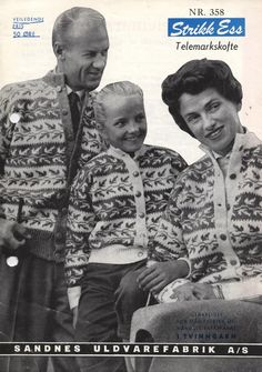 Telemark Kofte from Sandnes Uldvarefabrik Fair Isle Knitting, Hand Knitting, Embroidery Patterns, Knitting Patterns, Norwegian Knitting, Tapestry Weaving, Vintage Knitting, Old Pictures, Color Patterns