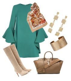 for lunch by chacharito on Polyvore featuring polyvore fashion style Gianvito Rossi Yves Saint Laurent Panacea Loewe clothing