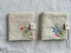 https://flic.kr/p/9qGkvH | sprig needlebooks | made from vintage linen- part of my shop update today. :)