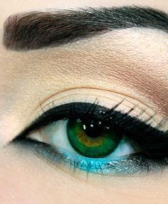 An easy way to add a pop of color to your makeup routine is adding some colored eye liner! Here's how to get this eye makeup look.