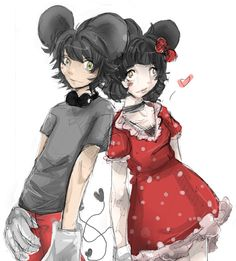 Mickey and Minnie Mouse Kissing in Human | Humanos_Mickey_and_Minnie_Mouse_by_Teava.png