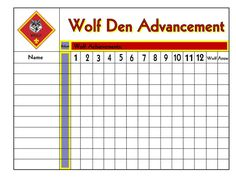 wolf den advancement tracking sheet-cub scouts