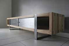 Industrial Modern Media Console