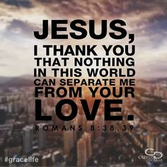 Thank you, Jesus!