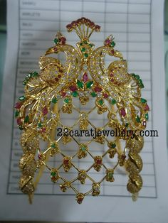 Jewellery Designs: Laxmi Peacock Ara Vanki Gallery by Premraj Jewelle...