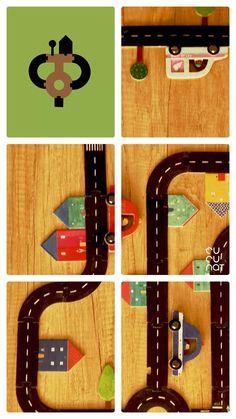 ¡Imagina la carretera más larga del mundo! ¿Seréis capaces de construirla? Para superar el reto deberes utilizar todas las piezas. Edad recomendada: a partir de 3 años. World, Childhood Games, High Road