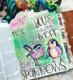 Matthew 10:31 We have such unimaginable worth in the eyes of Jesus! This is just one of the many many reminders and promises of that in His word. You are worth more than all the sparrows! ❤️ ... I had such a fun time journaling with the ladies who came to our meet up in Waxahachie last night. This is a page I have been wanting to complete for a while now.