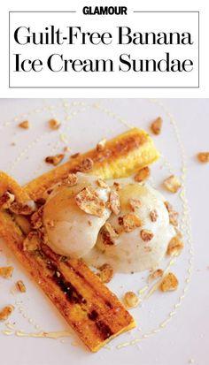 Guilt-free banana ice cream sundae recipe