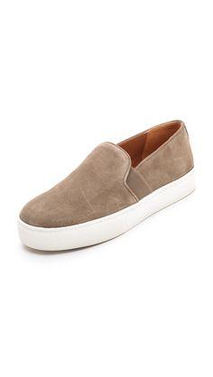 Vince Blair Suede Slip On Sneakers