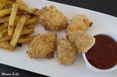 nuggets sauce aigre douce et frites épicées au four