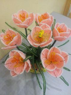 beaded flower tutorial ¡ un ramo de flores de perlas ¡