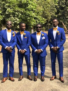 Men's royal blue and gold wedding dress for groomsmen. Royal Blue Suit Wedding, Royal Blue Tux, Royal Blue Wedding Decorations, Blue Tuxedo Wedding, Blue Gold Wedding, Royal Blue Bridesmaid Dresses, Blue Wedding Dresses, Royal Blue Weddings, Wedding Colors