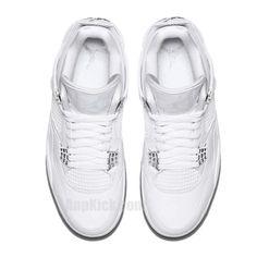 online store 54cc1 6f341 air jordan 4 all white silver pure money mens gs for sale 308497-100 -