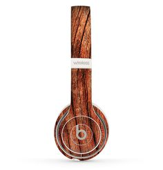 The Warped Wood Skin Set for the Beats by Dre Solo 2 Wireless Headphones