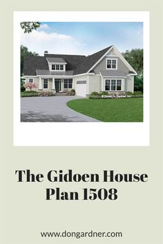 The Gideon house plan 1508 is now available for purchase! 1885 sq ft | 3 Beds | 2 Baths The Gideon is a simple Craftsman house plan with a courtyard entry garage and a prominent front facing shed dormer. The floor plan makes the most of its modest square footage with open living spaces and private bedrooms. Arrays of skylights brighten the great room and master suite while vaulted ceilings visually enhance these rooms. #wedesigndreams #cottagehouseplan Craftsman Style House Plans, Cottage House Plans, Country House Plans, Open Space Living, Living Spaces, Unique Small House Plans, Shed Dormer, Courtyard Entry, Large Sheds