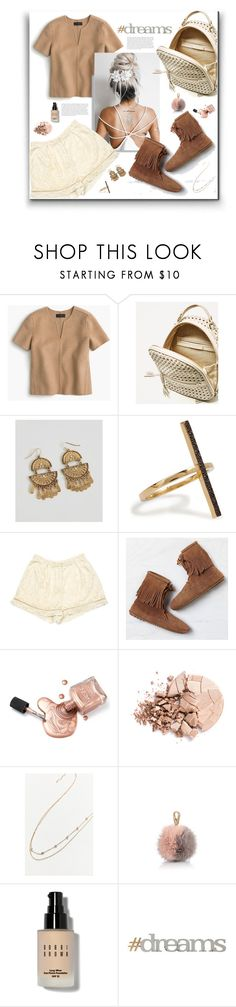 """""""Wishing ya'll a nice weekend!"""" by peony-and-python ❤ liked on Polyvore featuring J.Crew, BKE, Ileana Makri, Zimmermann, Minnetonka, Anastasia Beverly Hills, Urban Outfitters, Salvatore Ferragamo, Bobbi Brown Cosmetics and Letter2Word"""