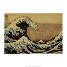 The Great Wave at Kanagawa (from 36 views of Mount Fuji), c.1829 Art Print