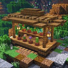 Minecraft Garden, Minecraft Farm, Minecraft Mansion, Easy Minecraft Houses, Minecraft House Tutorials, Minecraft Modern, Minecraft Plans, Amazing Minecraft, Minecraft Tutorial